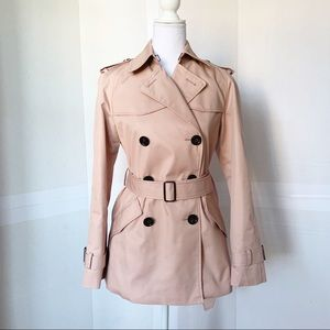 Coach double breasted short trench coat